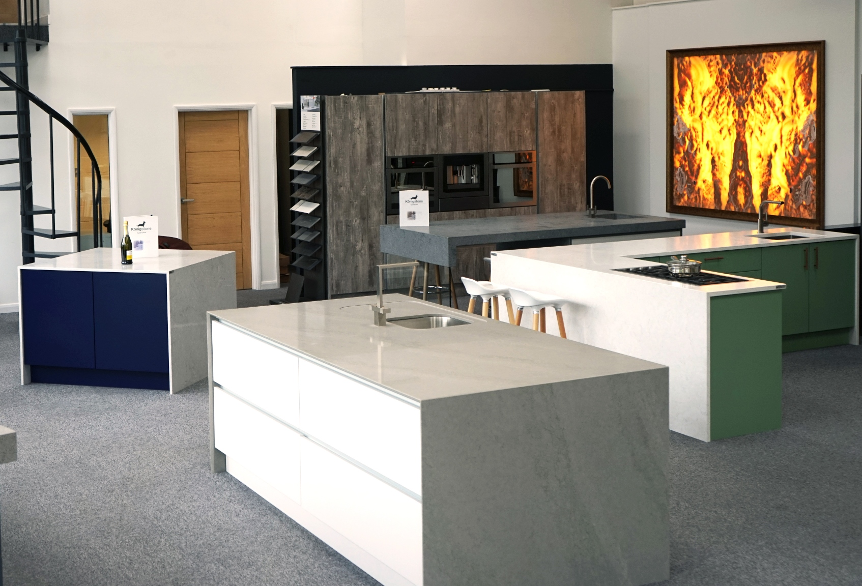 Stunning Königstone showroom – a feast of high-end worktops