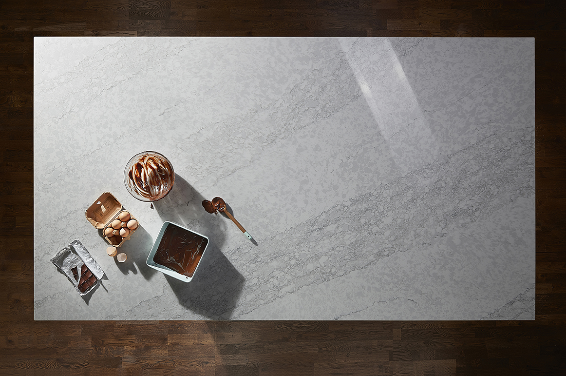 Complement your kitchen with Saint Moritz in Quartz from Königstone
